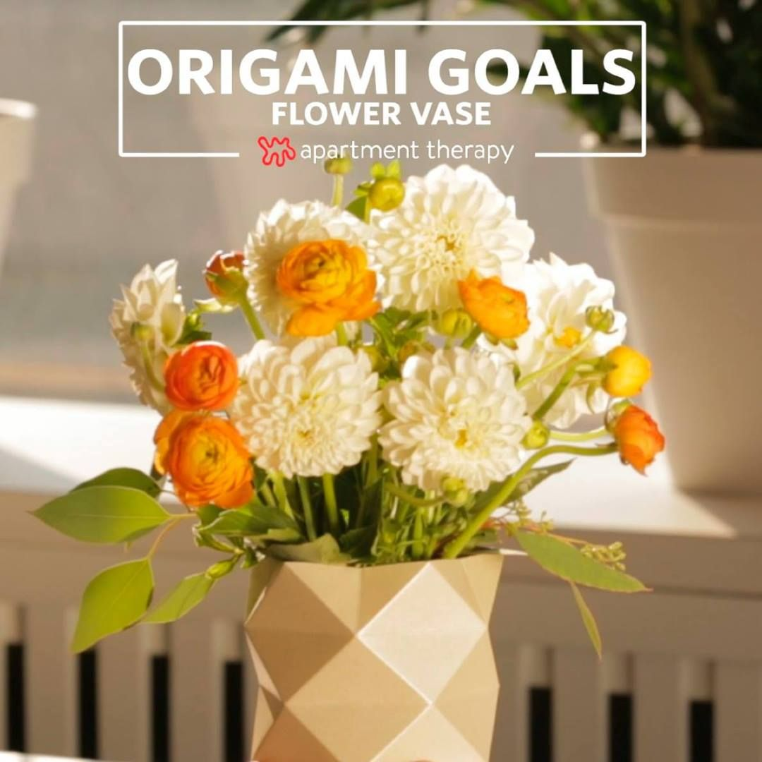 Flowers N Things On Twitter We Love This Origami Flower Vase