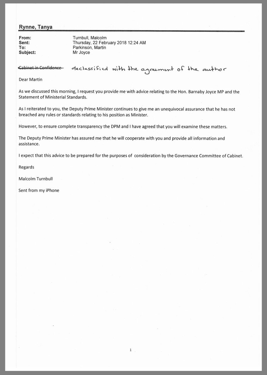 Tom mcilroy on twitter letters between malcolm turnbull and pmc tom mcilroy on twitter letters between malcolm turnbull and pmc boss martin parkinson about investigation into barnaby joyce auspol estimates thecheapjerseys Images