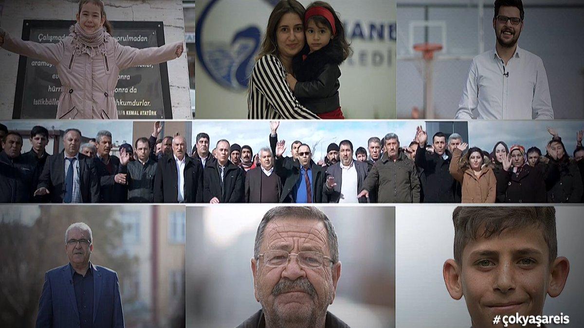 Gençlerden Cumhurbaşkanı @RT_Erdogan'a d...