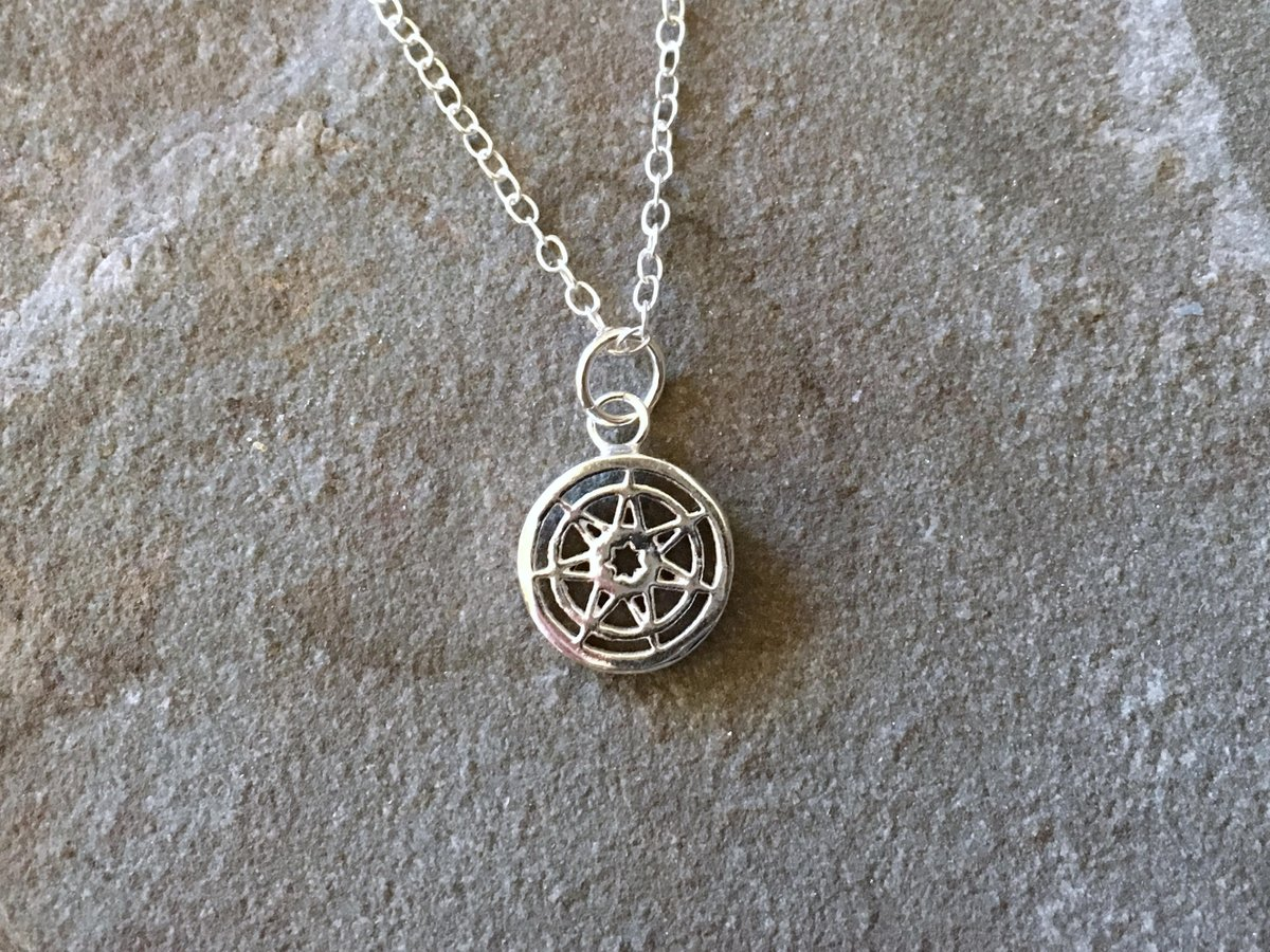 Heptagram twitter search seven pointed star game of thrones small sterling silver necklace heptagram septagram magical pendant 7 old planets of astrology aloadofball Choice Image