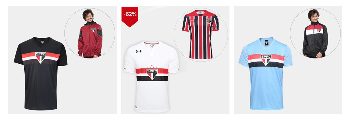 3ed26ef94be Kits de camisas do SPFC e até Whey Protein em promoção na loja oficial do  clube