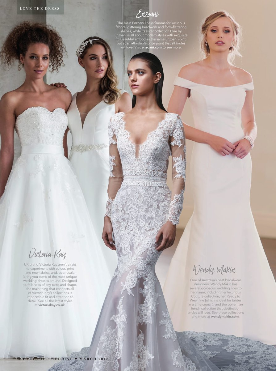 Brides on the hunt for their dream dress will love @VictoriakayKay, @_EnzoaniUK and @wendymakin! #weddinghour https://t.co/NK5x8sj6Ro