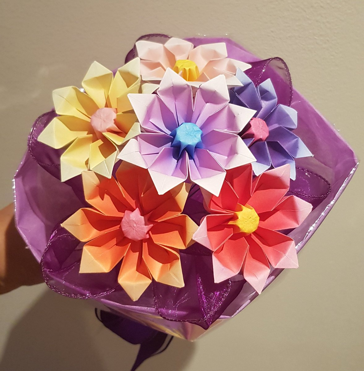 Mindful origami on twitter happy valentines day a very cute mindful origami on twitter happy valentines day a very cute sunburnt gerbera paper origami bouquet paper origami flowers bouquet valentinesday mightylinksfo