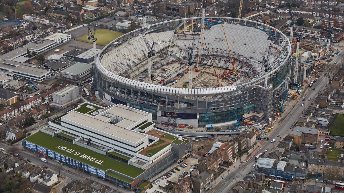 🏟️ #SpursNewStadium looking 👌 from the sky this week. 🚁