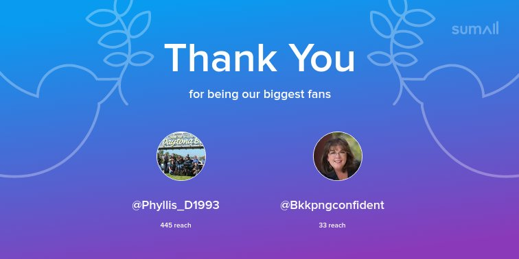 Our biggest fans this week: @Phyllis_D19...