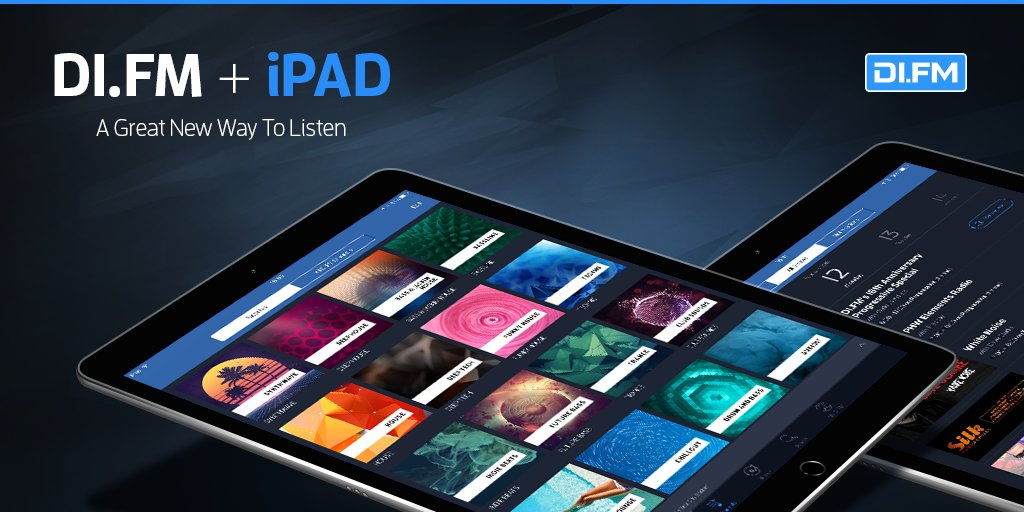 Di Fm On Twitter We Re Very Excited To Announce The Release Of The Highly Requested Ipad Support In The Latest Update Of Our Https T Co 9trm9lt7wo App For Ios Grab The Latest Update Now Https T Co Ag1cnfrwmn
