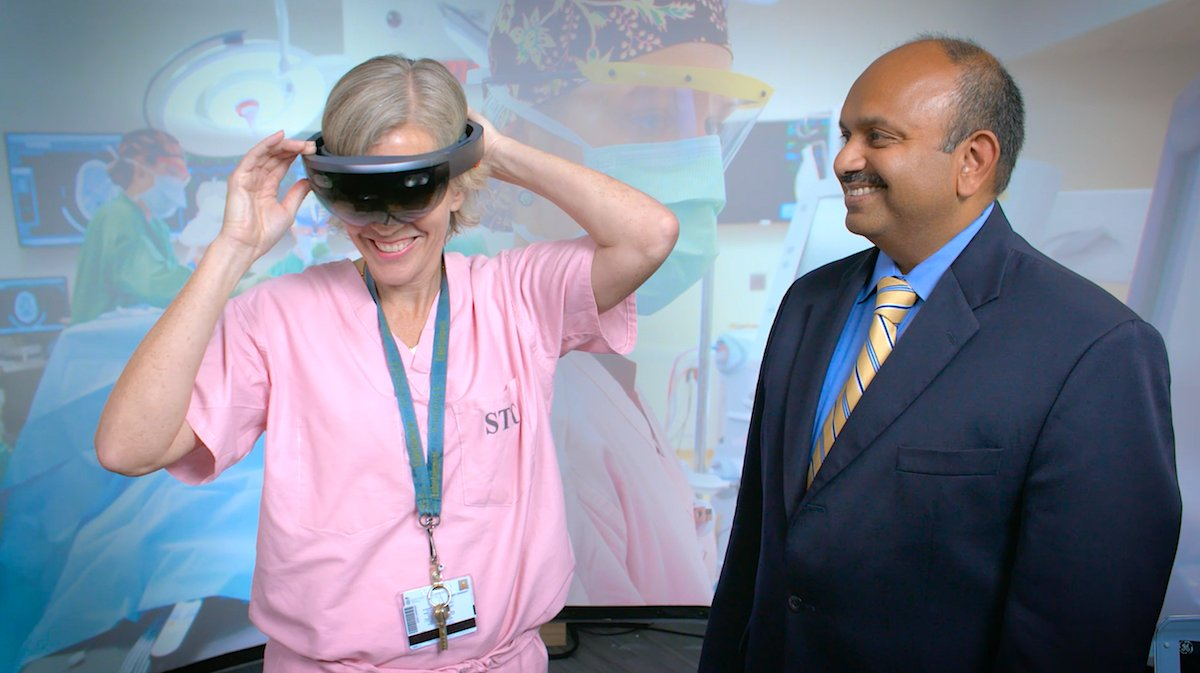 Excellent reporting by @globalbabel for @NBCNewsMACH on use of #AugmentedReality in medicine and health care. Article includes MPowering the State-funded research by @UMmedschools Dr. Sarah Murthi (left) and @UofMarylands Amitabh Varshney (right) go.umd.edu/fhy