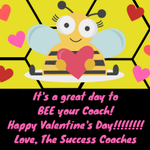 Happy Valentine's Day to our #HPUFamily!!!!!!  We are so glad to BEE your coaches! #HPU365