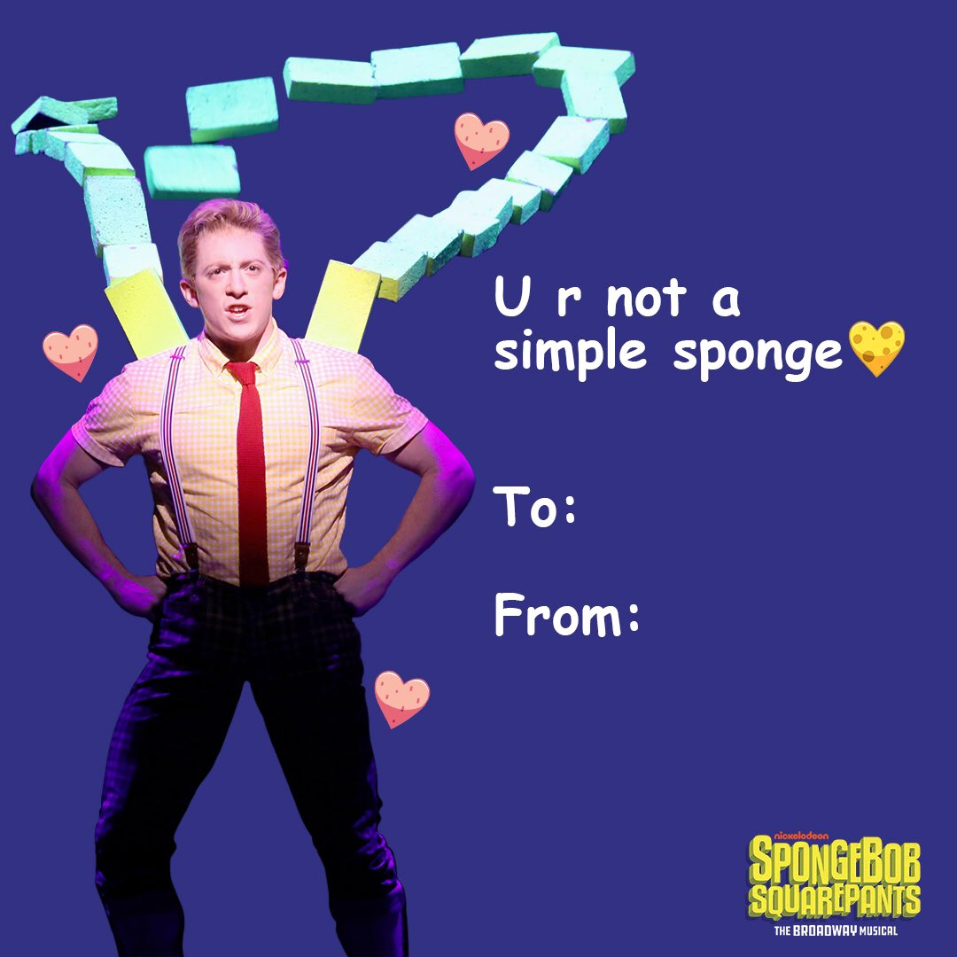Spongebob Broadway On Twitter Happy Valentinesday  F F   We Mad U Guys Super Cute Funny Adorable Valentines That U Can Share With Ur Lovey Dovey Boo