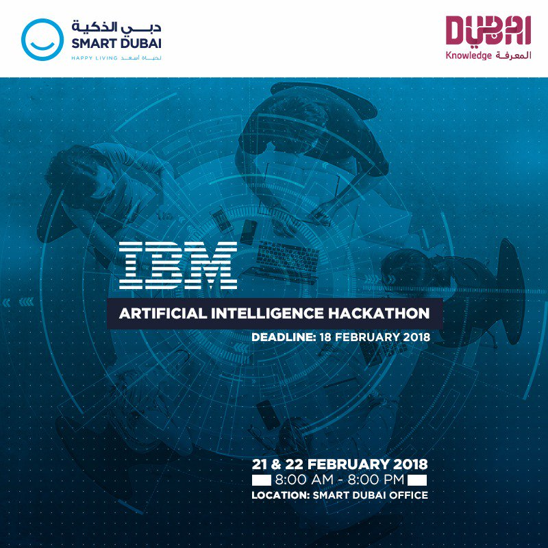 Calling all University students in the #UAE to participate in the #SmartDubai, @IBM and @KHDA AI Hackathon! Choose between 'Education', 'Transportation' or 'Tourism' and apply now https://t.co/53it3PZclr https://t.co/frQ748cW26