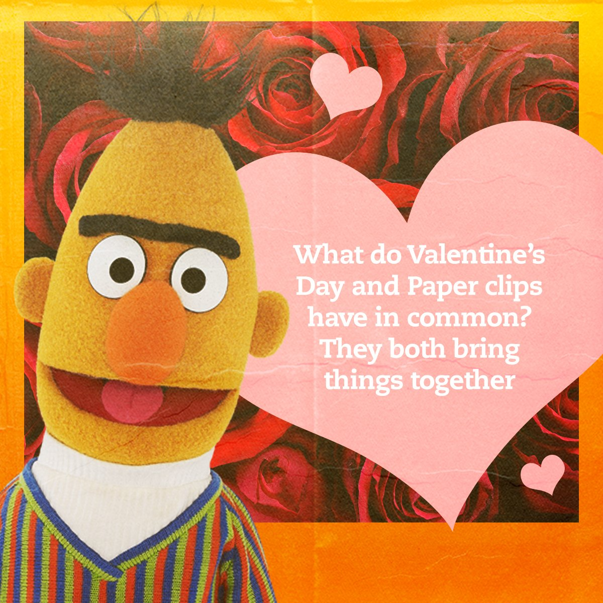 #ValentinesDay is about celebrating the things you love. Like paperclips. And oatmeal. And pigeons.