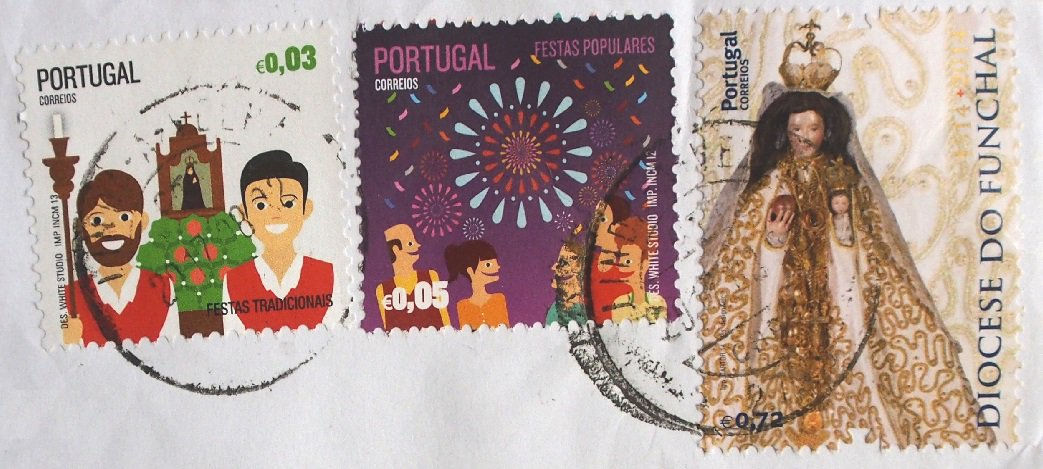 Colorful Portuguese stamps