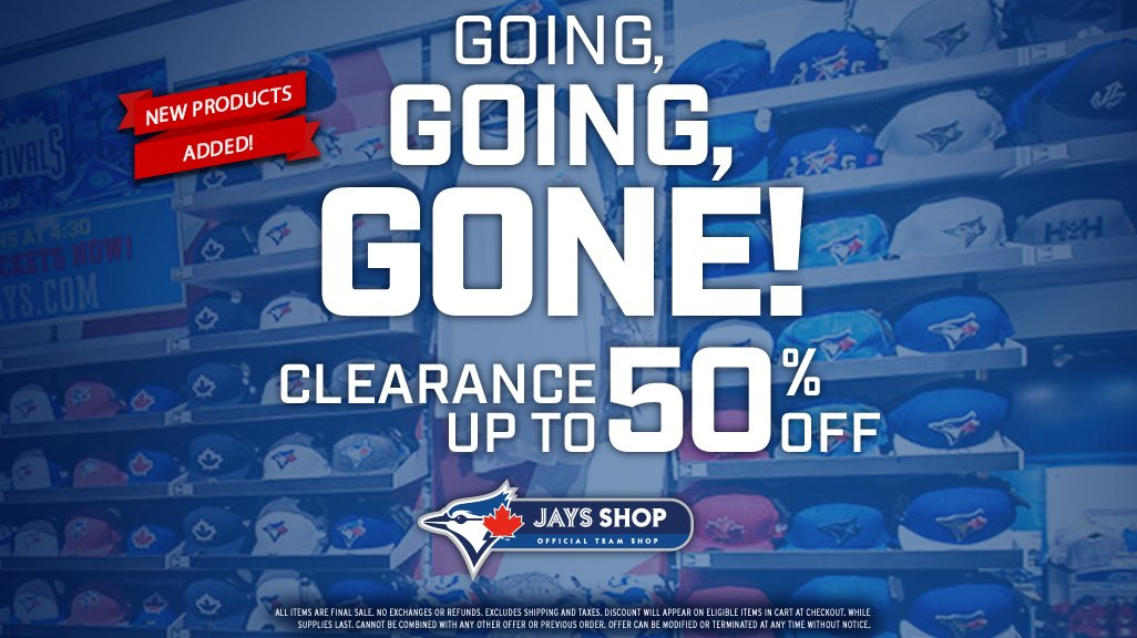 #SpringTraining is here, and so is another great sale at Jays Shop!  Make it a #ValentinesDay � or an addition to your collection: atmlb.com/2HbqVDL