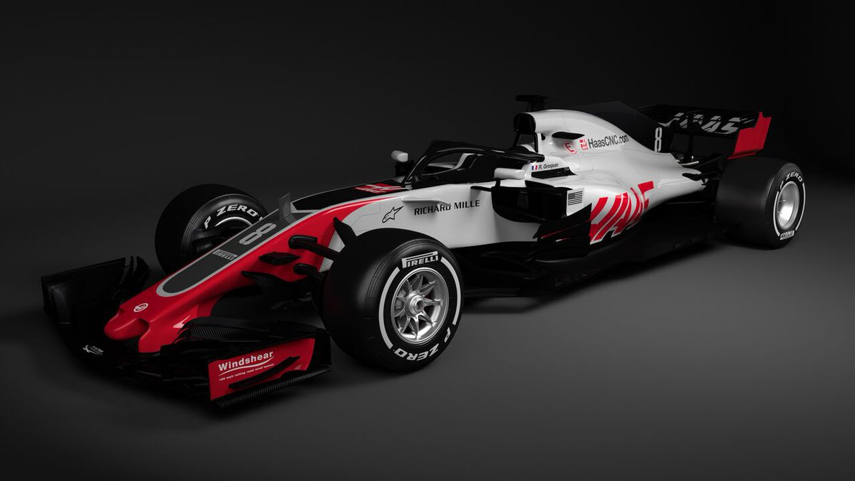 ICYMI: @HaasF1Team first to reveal their 2018 challenger 👀  >> f1.com/2018-Haas #F1