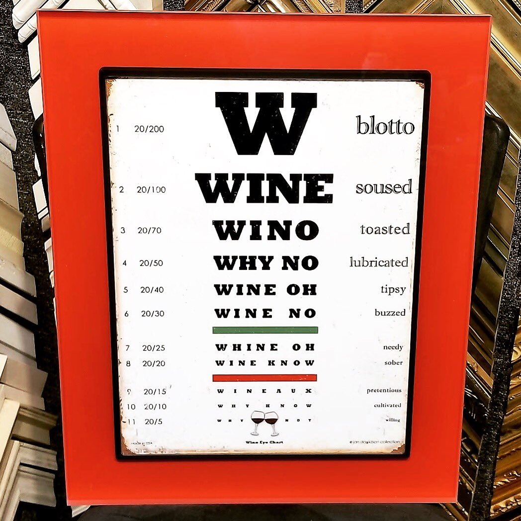 Primsa twitter search eye doctor but it works custom frame from prisma unique shapes colors and sizes wine eye chart primsa acrylicframe prismalove denver geenschuldenfo Gallery