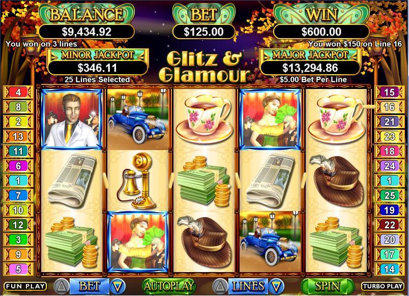 Glitz slot machine online store
