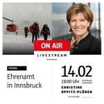 """Gleich startet unser #Livestream zum Thema: """"#Ehrenamt in #Innsbruck"""". Es würde mich sehr freuen, wenn ich eure Fragen live beantworten darf. Bitte schreibt mir einfach in die Kommentare auf Facebook https://t.co/tp9nYcIXdh . Los geht es um 18 Uhr. #intirol #live #ibktwit"""