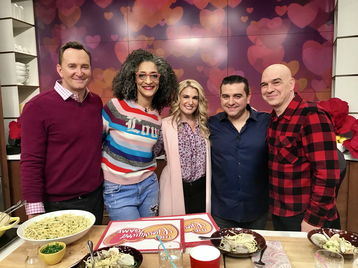 .@CakeBossBuddy got a huge surprise for #ValentinesDay...his wife! Buddy and his wife Lisa cook up a Valastro Valentine's Day tradition today on #TheChew!
