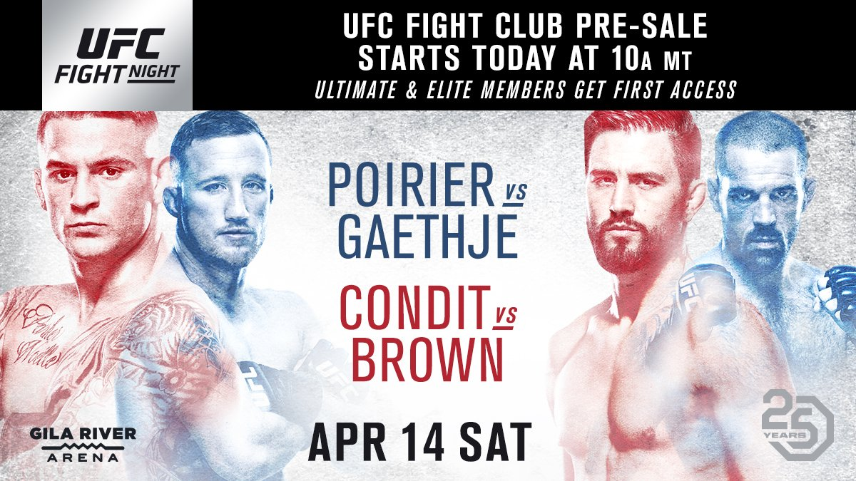 Were headed to the desert! 🌵 Fight Club members, your access to #UFCGlendale tickets starts NOW: bit.ly/2srjYeB