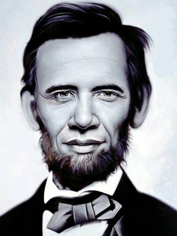 دمج فني متقن بين صورتي رئيسين أمريكيين سابقين ... أحدهما ناجح جداً وآخر فاشل جداً ... هل عرفتم من هما ؟؟ ... دمتم  #المهندس_شهريار ... #أمريكا ... #رئيس_أمريكي ... #في_نظري