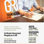 Image for the Tweet beginning: Curso Certificado GRI de transición