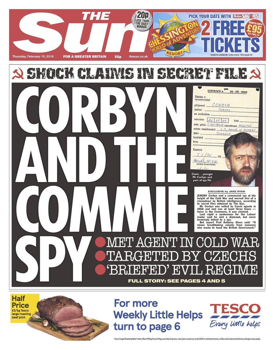 Jeremy Corbyn denies 'ridiculous smear' that he briefed communist spy