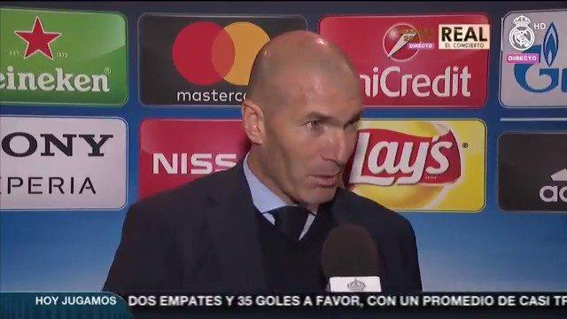 🎙🗨 Zidane respondió a la preguntas de #RMTV en zona mixta tras la victoria frente a @PSG_espanol. #APorLa13