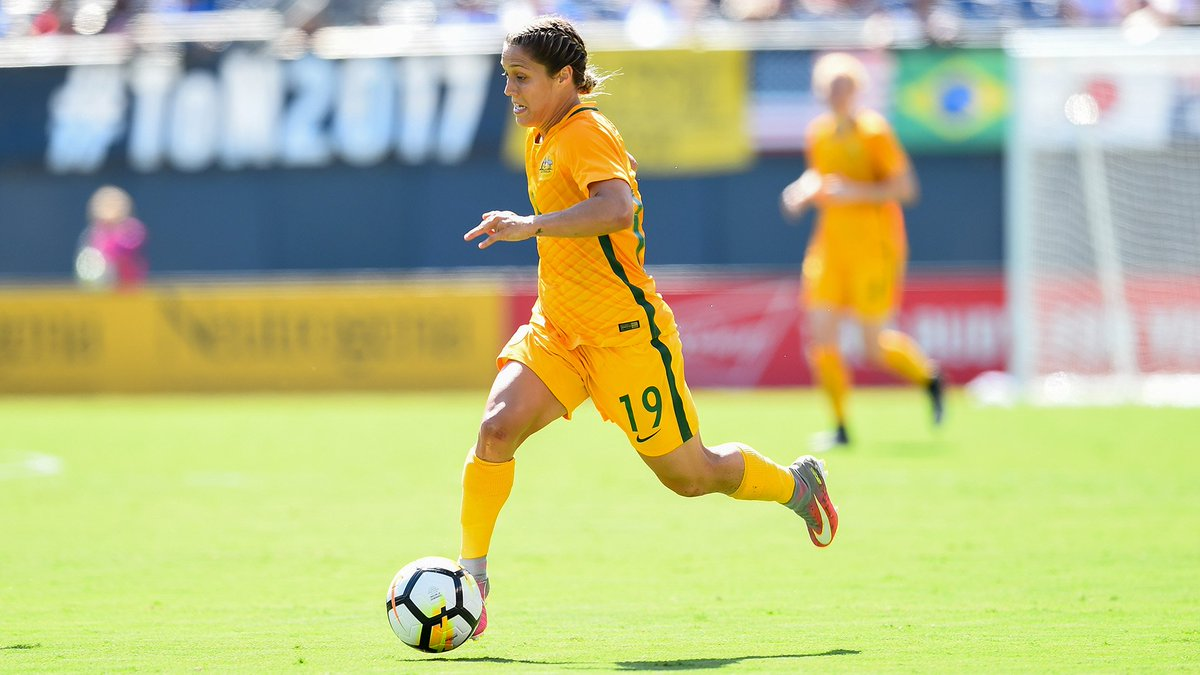 Australian midfielder Katrina Gorry is h...