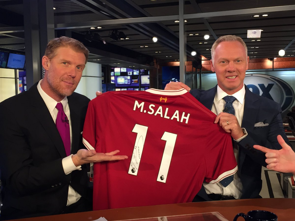 Roses are red Violets are blue We're giving away A signed Salah kit for you  Follow us and RT for a chance to win this jersey, courtesy of @LFC!