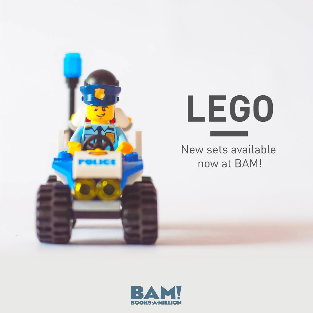 The latest and greatest bricks are available right here at #BooksAMillion bit.ly/2EFf5mY