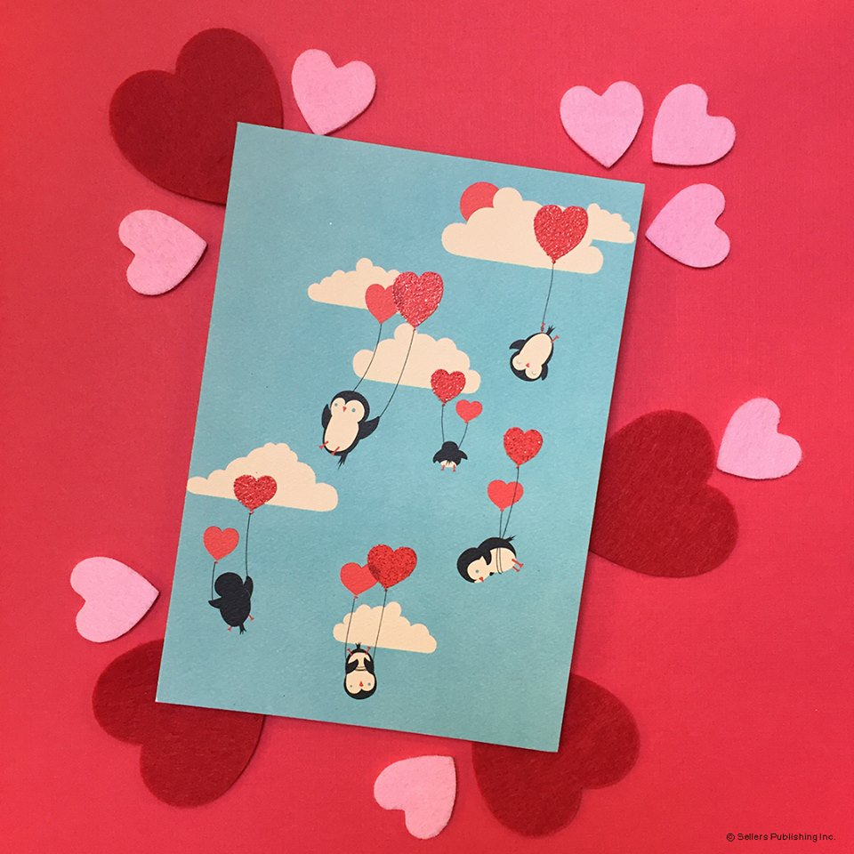 Happy Valentine's Day from all of us at Sellers Publishing!© RSVP® All Rights ReservedArtwork © Jay Fleck #valentinesday #love #cards #stationery #greetingcards #paperlove #valentines