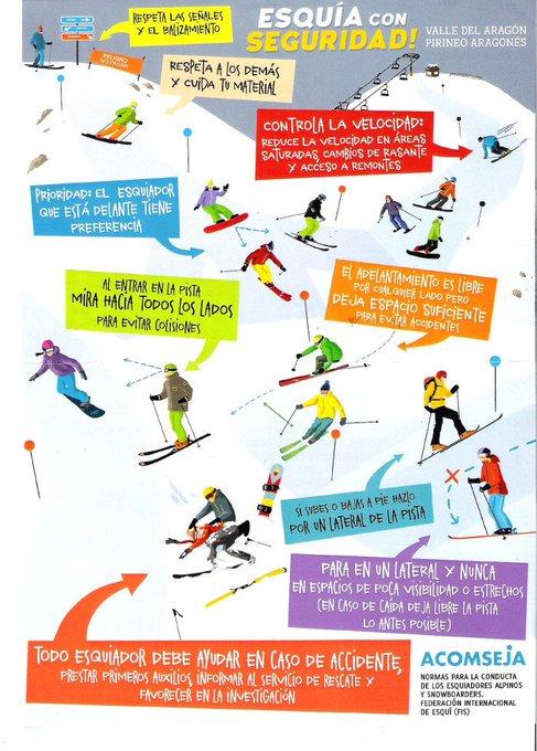 A pesar de lo que algunos piensan, el esquí no es un deporte de riesgo, siempre que se respeten las normas! [ESQUÍA CON SEGURIDAD] 👉https://t.co/iSY9jkwKgt