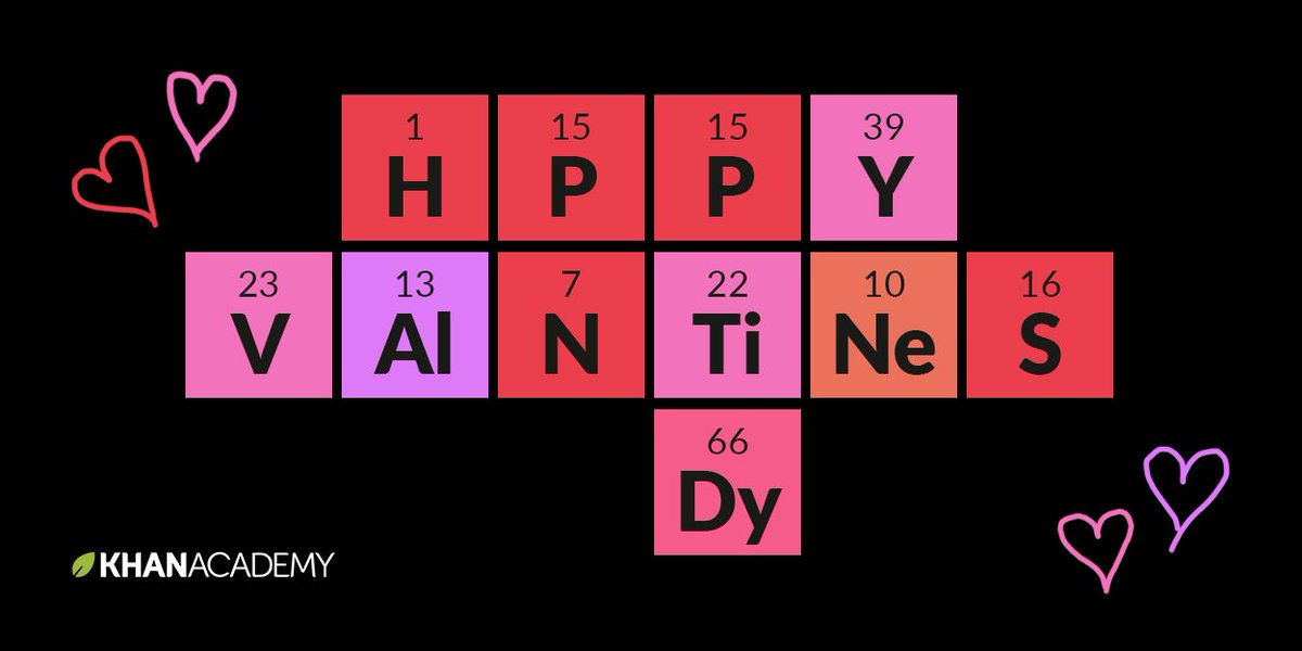 Khan academy on twitter feeling the love for science today khan academy on twitter feeling the love for science today valentinesday periodictable httpsts8j6nghhrl urtaz Image collections