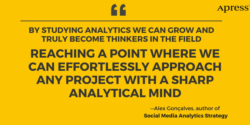 . @AlexGoncalves77 author of #Apress book, Social Media Analytics Strategy, explains how one can use social data analytics to optimize business performance in this Apress blogpost: https://t.co/LpTU5SZ63B https://t.co/9sib6yVBmr