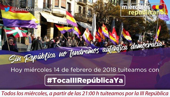 #TocaIIIRepúblicaYa Porque sin república...