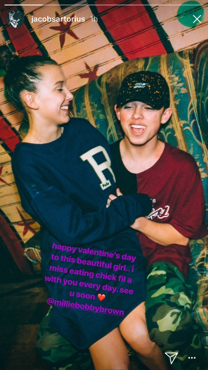 Pop Crave On Twitter Millie Bobby Brown And Boyfriend Jacob Sartorius Share Cute Pictures Of Each Other For Valentines Day
