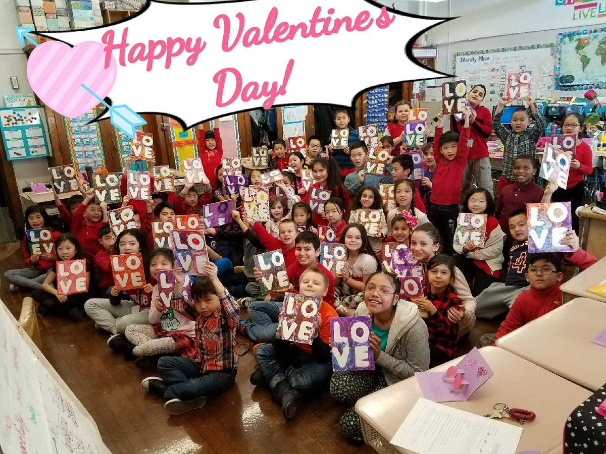 #HappyValentines day from #ps101 @nycsch...