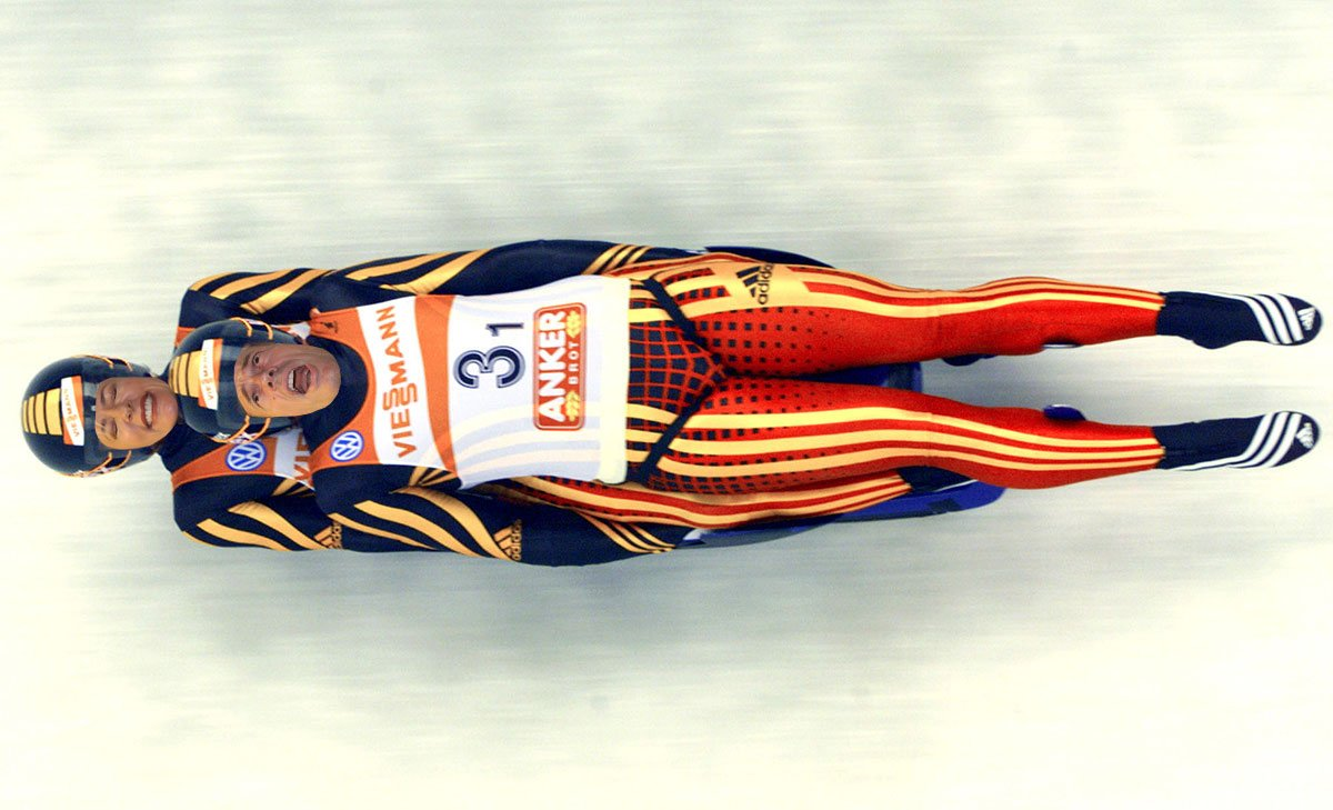 That double luge at the Winter Olympics...