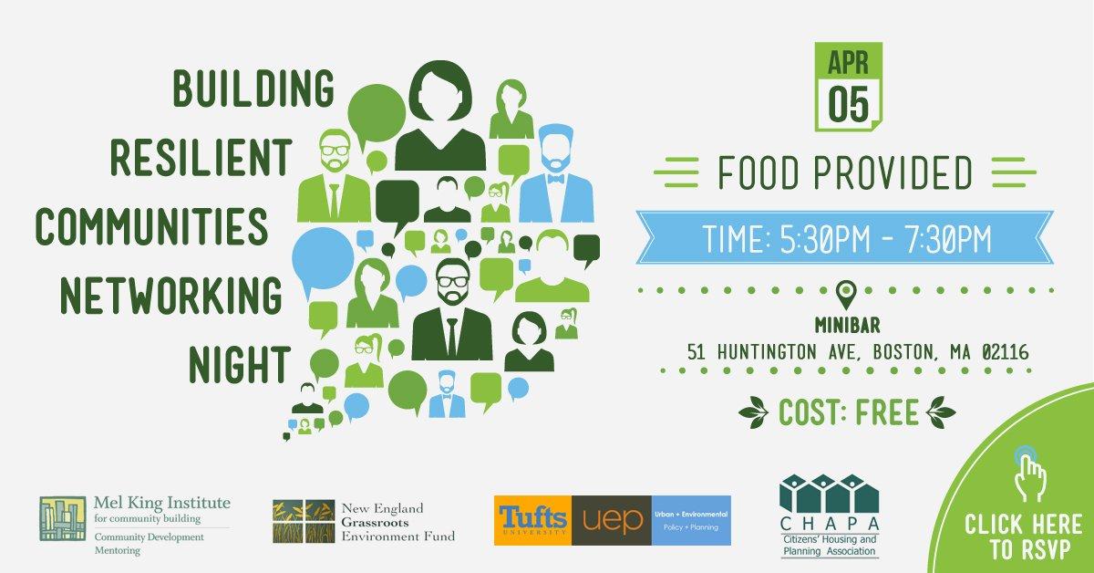 Building Resilient Communities Networking Night @ Minibar | Boston | Massachusetts | United States