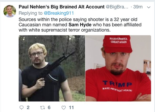 Caroline Orr Bueno On Twitter Just To Be Clear Sam Hyde Is An Internet Meme People Do This After Every Shooting Because People Are Awful Https T Co Xd7rw8a6we Sam hyde is chief executive of ttp, a technology and development company based in cambridge. caroline orr bueno on twitter just to