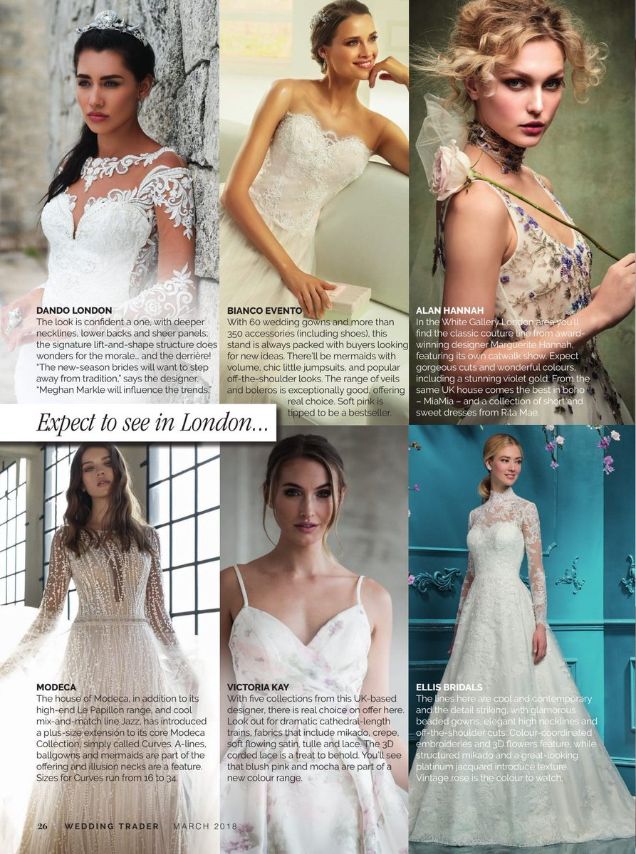 We're covering the country's hottest new bridal event @London_BW and letting you know which names to look out for, including @Dando_london, @Bianco_Evento, @Alanhann1, @ModecaUK, @VictoriakayKay and @ellisbridals #weddinghour https://t.co/3nzX2vwr5y