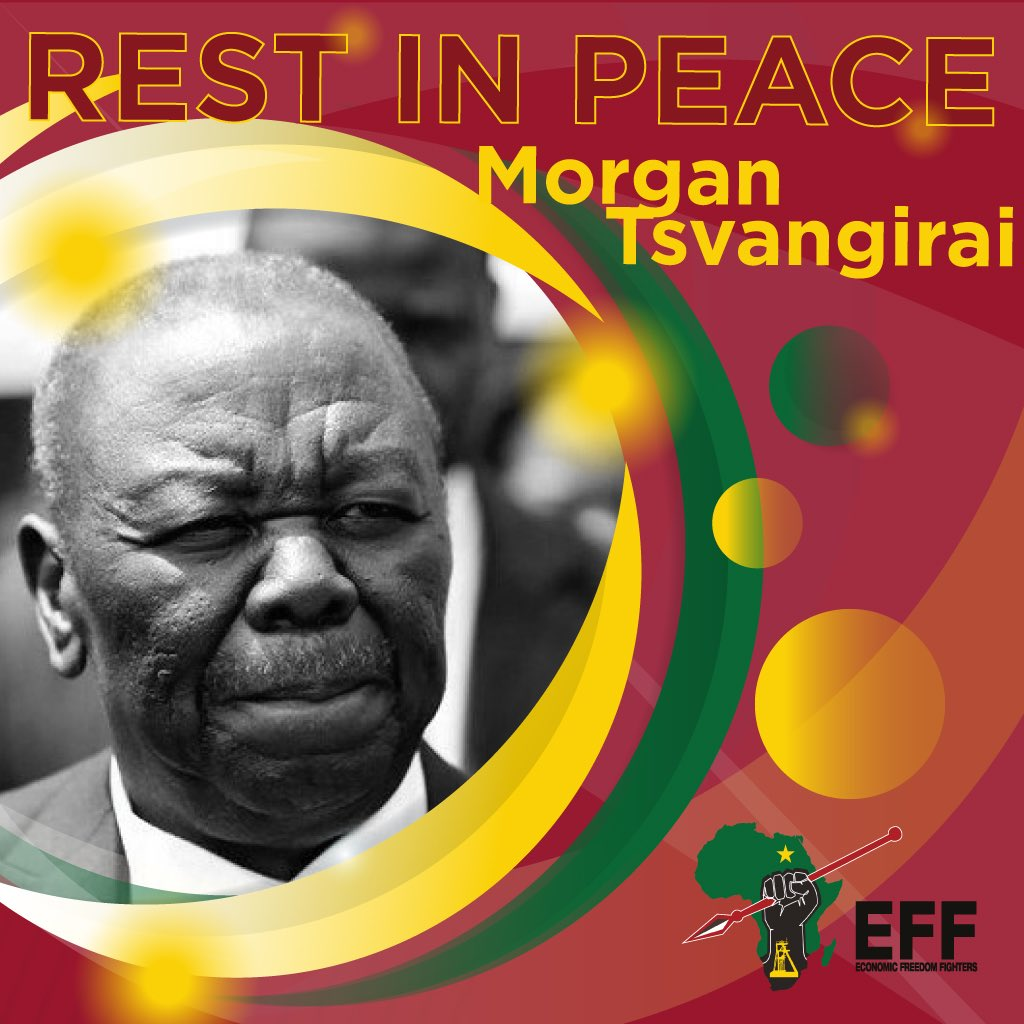The EFF sends revolutionary condolences on the passing of MDC leader Morgan Tsvangirai May his soul rest in power!