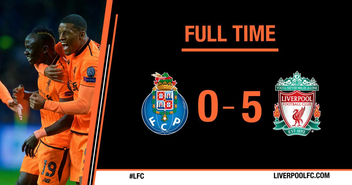 Chấm điểm kết quả Porto 0-5 Liverpool