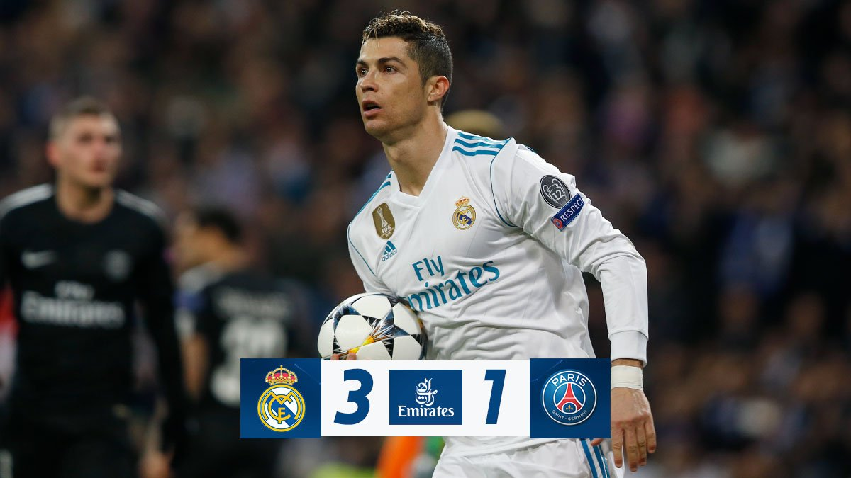 Chấm điểm: Real Madrid 3-1 Paris Saint Germain