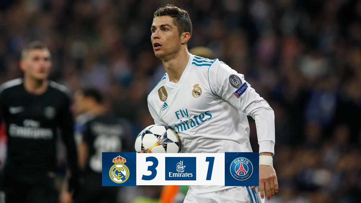 Chấm điểm kết quả Real Madrid 3-1 Paris Saint Germain
