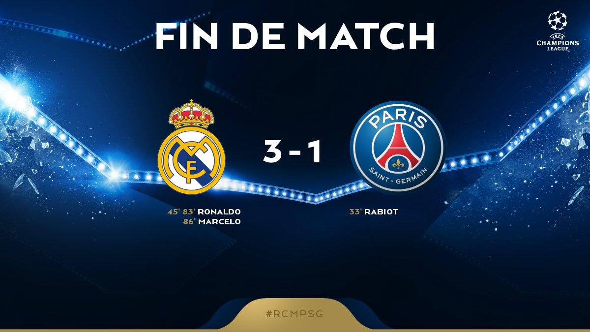 Défaite 3 buts à 1 de nos Parisiens pour ce huitième de finale aller. Rendez-vous dans 3 semaines au Parc pour la manche retour.  🔴🔵 #AllezParis