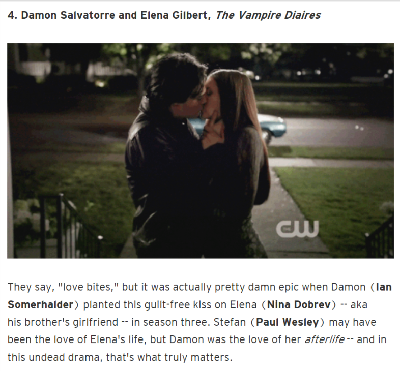 Elena Damon First Kiss