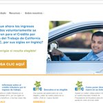 Please Retweet!   The Spanish version of the CalEITC4me website is now live. Go to https://t.co/t2Loqj9IBl to access CalEITC resources and tools in Spanish.