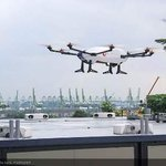 Airbus Helicopters' Skyways unmanned air vehicle has successfully completed its first flight demonstration at the National University of Singapore (NUS). https://t.co/SiP62lX5Lt #drone #drones #deliverydrone