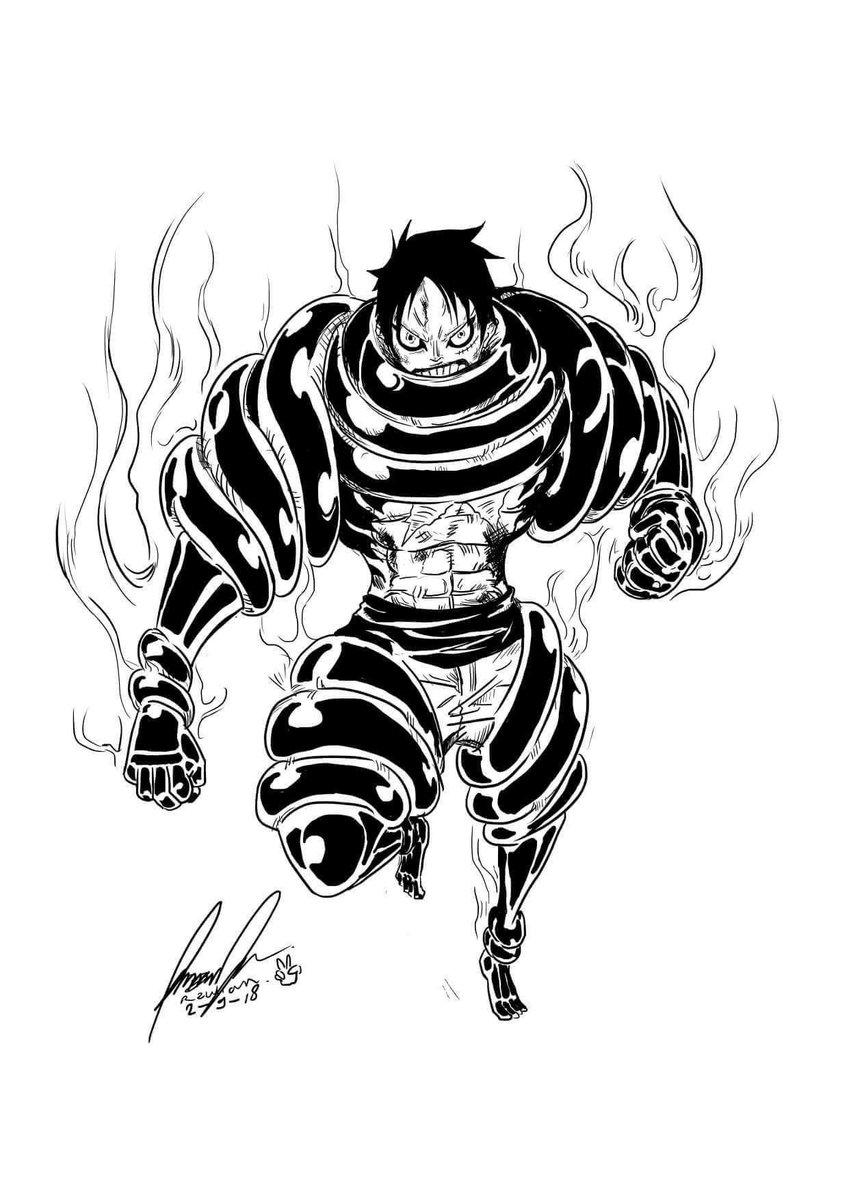 "Luffy Gear 4 Tattoo: Tobagokid88 On Twitter: ""Tag The Artist. #luffy #gear5"